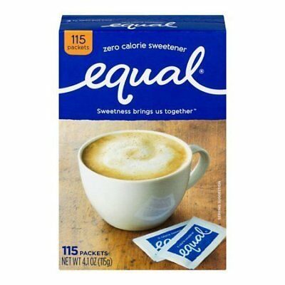 Equal Artificial Sweetener Packets - 100 Packets, 18 pack