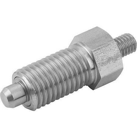 KIPP K0341.01410A7 Indexing Plungers threaded pin, Style E, inch