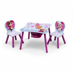 TABLE AND CHAIR FOR KIDS FROZEN ANNA AND ELSA/TABLE POUR ENFANT