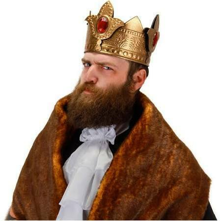 ADULT ELOPE GOLD KING RENAISSANCE MEDIEVAL KING GOLD CROWN COSPLAY COSTUME