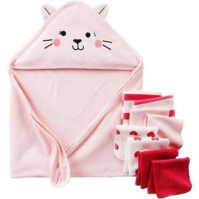 Child of Mine by CARTER'S Newborn Baby Boy Bath Towel Set, 9-Piece - Monkey