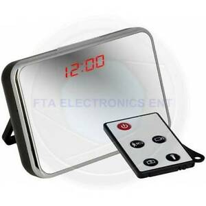 Spy Camera Mirror Clock Style with Motion Detection Remote Contr