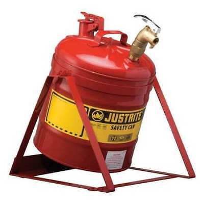 Justrite 7150156 5 Gal. Red Steel Brass Type I Faucet Safety Can For Flammables