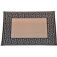 Patio Mats Patio Mat, 9' x 12', Greek Key Comes with carry Bag