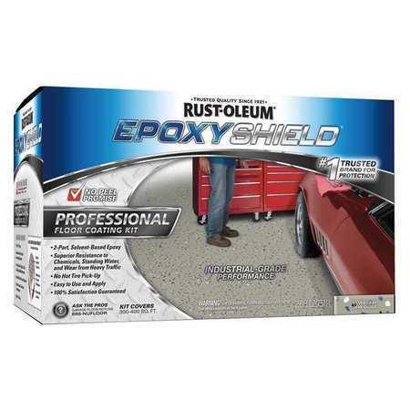 RUST-OLEUM 238466 EXOPYSHIELD™ Floor Coating Kit,2 gal,Dunes Tan
