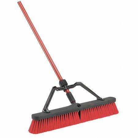 "LIBMAN 823003 Broom,w/Handle and Brace,24"" Block"