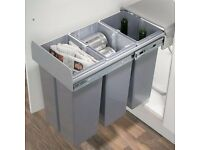 Hafele Pull Out Kitchen Waste Bin for hinged door cabinets, 3 x 10 litre