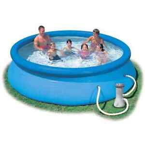"Intex 12' x 30"" Easy Set Above Ground Swimming Pool"