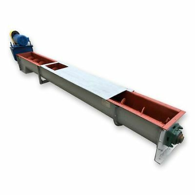 Used 12 Dia X 13 Long Fmc Link-belt Ribbon Screw Auger Conveyor