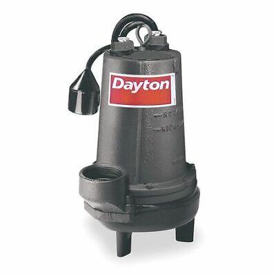 Dayton 4le23 2 Hp 3 Auto Submersible Sewage Pump 230v Tether