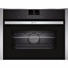 Neff C27CS22N0B Electric Convection Single Oven - Built-In - 59.6 cm - 47 litre - Stainless Steel