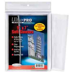 "ULTRA PRO .... CARD SLEEVES .... 5"" x 7"" .... package of 100"