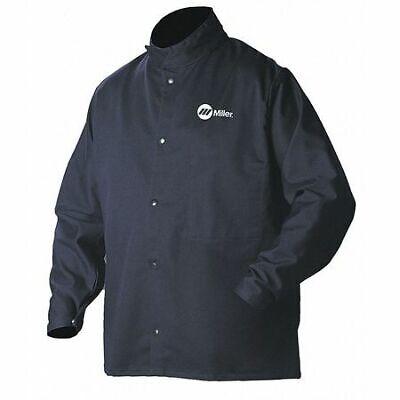 Miller Electric 244750 Arcarmor Welding Jacketnavycottonnylonm