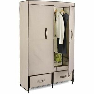 Honey-Can-Do Double-Door Wardrobe with 2 Drawers