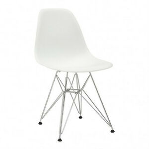 Chaises blanche eames style chairs vintage modern chaises eiffel chaises f - Chaises eames montreal ...