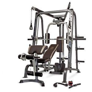 Marcy Deluxe Diamond Elite Smith Cage Workout Machine Total Gym