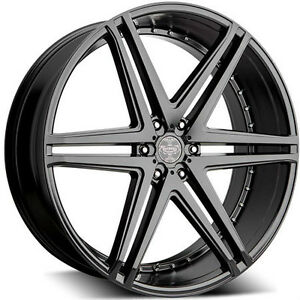 "NEW! 24"" MATTE BLACK rim/tire f150 chevy 1500 escalade navigator"