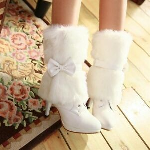 White winter boots NEW with detachable fur