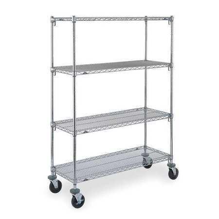 METRO CART 6A Adjustable Shelf Wire Cart,24 In. W