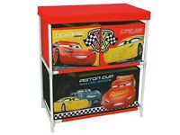 Disney cars storage drawers toy box