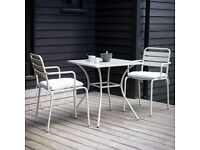 Garden or Patio Stylish table with two matching chairs