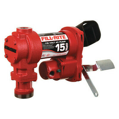 Fill-rite Fr604h Fuel Transfer Pump 115vac 15 Gpm 16 Hp Cast Iron 1 Npt