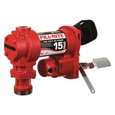 Fill-rite Fr604h Fuel Transfer Pump 115vac 15 Gpm 16 Hp Cast Iron 1 Npt