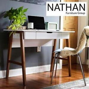 NEW* NATHAN HOME COMPUTER DESK 51101 222236129 HOME OFFICE VANITY TABLE WHITE MODERN FINISH FURNITURE DECOR