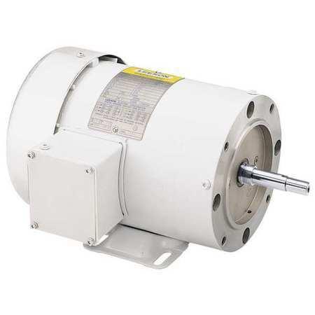 LEESON 119463.00 Washdown Motor,3 HP,Face/Base,3-Phase