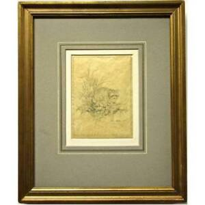 Glen Loates ORIGINAL PENCIL SKETCH ON PAPER SIGNED AND DATED