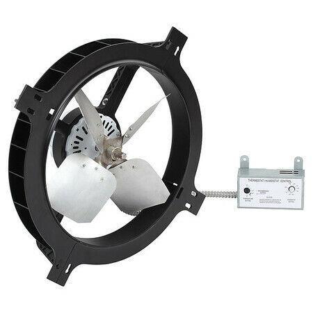 Dayton 10W196 1380 Cfm Gable Mount Attic Fan, 120V