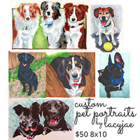 Personalized Pet Portraits, Fine Art