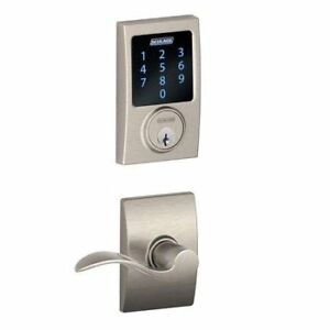 Schlage Connect Century Touchscreen Deadbolt with Built-In Alarm