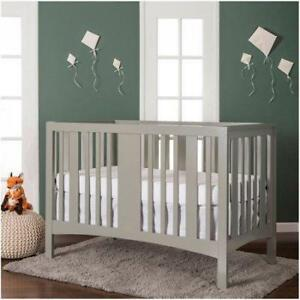 New Dream On Me Havana 5 in 1 Convertible Crib, Gray PICKUP ONLY - DI0