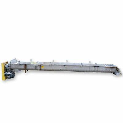 Used 9 Dia. X 13l Industrial Screw Auger Conveyor