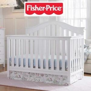 NEW* FISHER PRICE CONVERTIBLE CRIB 13550101 198192063 SNOW WHITE KINGSPORT JUST THE RIGHT HEIGHT BABY