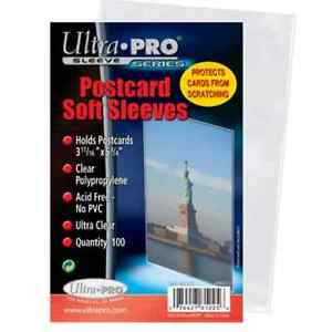 ULTRA PRO .... CARD SLEEVES ... POSTCARD size ... package of 100