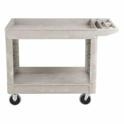 Rubbermaid Fg450089beig High Density Structural Foam Utility Cart With Deep
