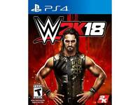 Wwe 2k18 ps4 game.