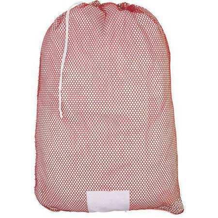 Zoro Select Mp245557 Mesh Laundry Bag,Red,Drawcord,Pk12