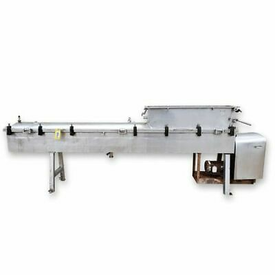 Used 8dia. Stainless Steel Single Auger Steam Cheese Cooker Conveyor Processor