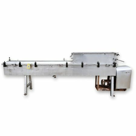 """Used 8""""dia. Stainless Steel Single Auger Steam Cheese Cooker Conveyor Pr..."""