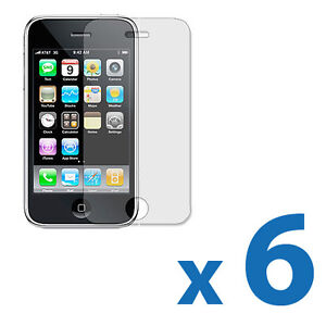 6X Clear Screen Protector Cover Shield Guard for Apple iPhone 3G 3GS