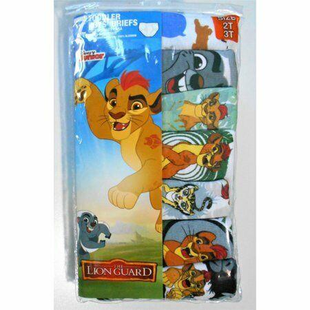 DISNEY LION GUARD PACK 7 BRIEF UNDERWEAR SET BOYS TODDLER (Size:2T /3T)