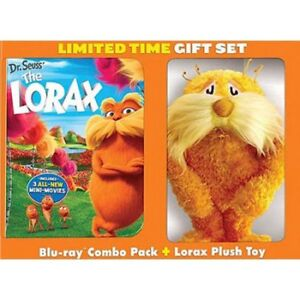 Dr. Seuss The Lorax (Blu-ray + DVD + Digital + Plush Toy)