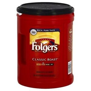 Looking for Folgers Ground Coffee container