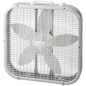 Large 20'' Box Fan with the original box - White Colour