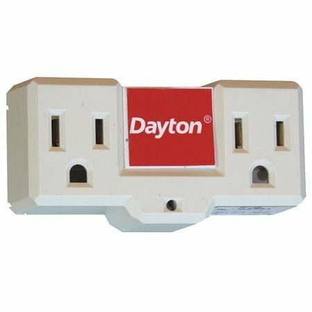 Dayton 48Gp69 Plug-In Freeze Protection Thermostat, Open On Rise, 120Vac