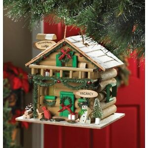 bird houseschristmas themed - Bird House Christmas Decoration