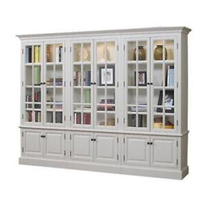 A&E Wood Designs French Restoration Brighton Oversized Set Bookcase NEW ** 5 CORNERS FURNITURE**